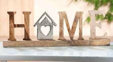 GILDE Schriftzug Home - Alu auf Mangoholz - 48778