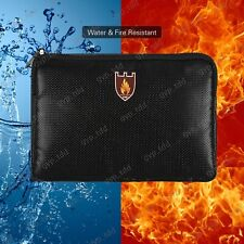 Fireproof Money Bag Waterproof Safe Cash Box Document Envelope File Pouch Case