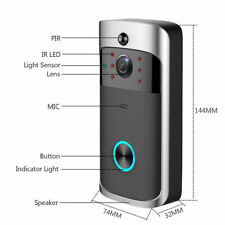 New Smart Doorbells Wireless WiFi IR Visual Camera Record for Home Security