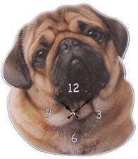 Wanduhr Mops Bilderuhr Wohnzimmeruhr Kinderzimmer wall clock pug Uhr
