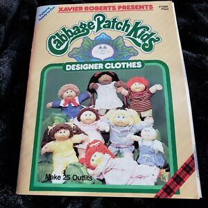 Vintage Cabbage Patch Kids Designer Clothes Pattern Book Xavier Roberts #7686