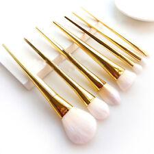 7pcs Makeup Brushes Set Powder Foundation Eyeshadow Lip Cosmetics Gold Brush