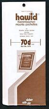 Hawid Stamp Mounts Size 70/210 BLACK Background Pack of 10