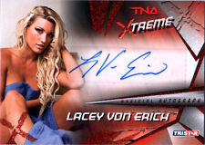 TNA Lacey Von Erich 2010 Xtreme RED Authentic Autograph Card SN 4 of 5