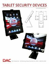 Tablet Security Bracket Stand for iPad, Blackberry, Galaxy. Retail/Personal Lock