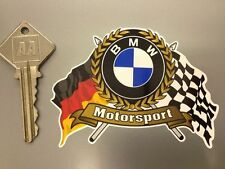 BMW ROUNDEL type MOTORSPORT Flags & Scroll car sticker