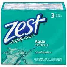 Zest Refreshing Bars Soap, Aqua 4 oz, 3 ea