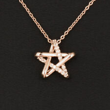 ROSE GOLD PLATED STAR CRYSTAL NECKLACE VALENTINES GIFT
