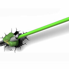 Hot 3D FX Deco LED Night Light Star Wars Yoda Hand with Lightsaber Wall Deco.