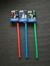 Star Wars Nerf Lightsaber Full Set of 3 Hasbro Bladebuilders New foam