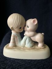 Precious Moments Figurine E-9259 ln box We're In It Together Boy With Pig In Mud