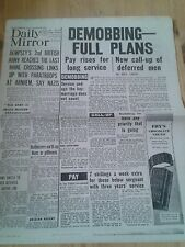 Daily Mirror NEWSPAPER-WW2- Sept 22nd 1944- Dempsey's 2nd reaches Rhine Crossing