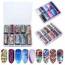 NATUCE Pegatinas de Arte de Uñas, 30 Color Transferencia Foil Pegatinas Papel