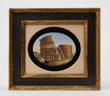 19th Century Micromosaic Colosseum Rome Italy European Grand Tour Pietra Dura