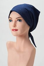 CHEMO Scarf Comfy NAVY BLUE EYELET Hat Cap Cancer Turban FREE SHIPPING Headcover