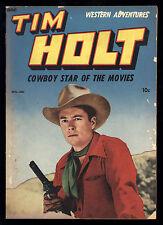 Tim Holt (1948) #3 1st Print Frank Bolle Art Photo Front & Back Covers ME VG