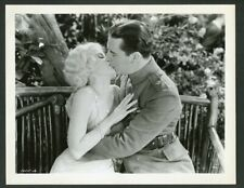 "JEAN HARLOW + BEN LYON in ROMANTIC KISS Original Vtg 1930 Photo ""HELL'S ANGELS"""