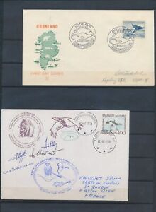 XC55895 Greenland signed by captains antarctic mail good covers used