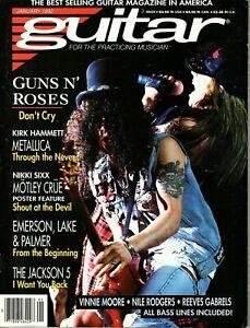Guitar for the Practicing Musician January 1992 - Guns N' Roses, Nikki Sixx