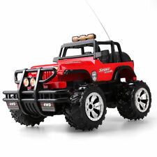 Radio Remote Control Jeep Car Kids Toy Racing Vehicle Model Xmas Gift With Light