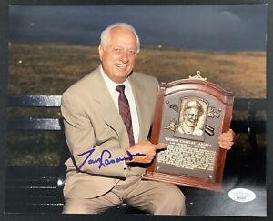 Tom Lasorda Signed Photo 8x10 Brooklyn Dodgers Autograph Baseball HOF 1997 JSA