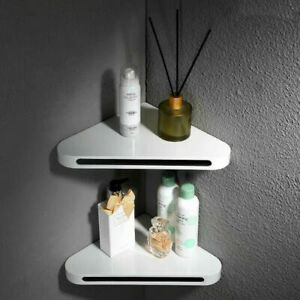 Double Bathroom Wall Corner Shelves Strong Triangle Storage Shelves Rack SUS+ABS