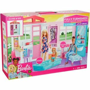 Barbie Fully Furnished House Mattel Doll House