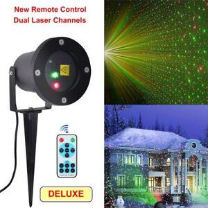 Laser Light Show Projector Fairy House Garden Outdoor Christmas Festival Holiday