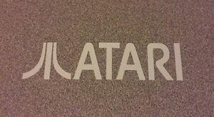 """ATARI"" Logo Vinyl Decal Sticker WHITE 6"""