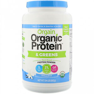 Orgain, Organic Protein And Greens Protein Powder, Plant Based, Vanilla Bean,