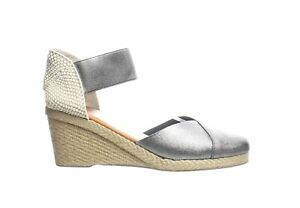 Andre Assous Womens Anouka Pewter Espadrilles Size 11 (1810815)