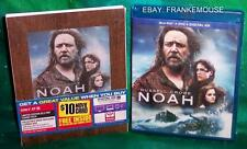 NEW TARGET EXCLUSIVE NOAH 3 DISC BLU RAY & DVD MOVIE 2014 & WOOD LIKE SLIPCOVER