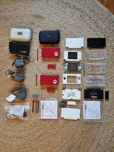 Nintendo DS Lite Lot- 2x Mario Limited Edition, 1x Lite, Housings, Parts etc.