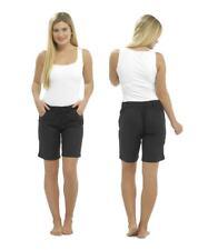 Ladies Girls Linen Shorts Casual Summer Holiday