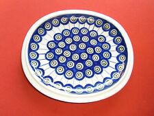 Bunzlau: *Pfauenauge* Snackteller, Servierplatte, Schale, ca. 21 x 23 cm