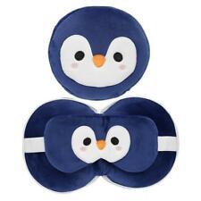 Masque Yeux & Oreiller Bleu Pingouin