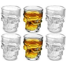 Skull Shot Bicchieri in vetro a forma di Teschio per cocktail shottini - 6 pezzi