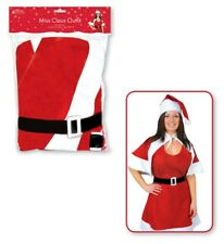 Mrs Santa Claus Sexy Outfit Cape Hat Fancy Dress Costume Outfit Christmas Gift