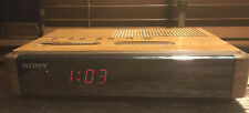 Sony Dual Alarm Clock Radio Dream Machine Icf-C400 Digital Display Tested/Works