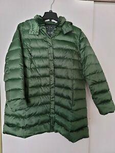 MARINA RINALDI Voyage Women's Green Reversible Coat/Vest Size 18W / 27