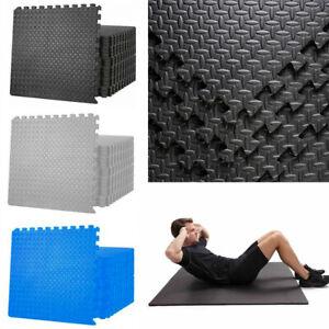 EVA FOAM MAT 12MM Thick Floor Gym Mats Soft Interlocking Play Yoga Tiles Pilates