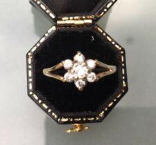 Women's 9ct Gold CZ Stone Cluster Ring Hallmarked Weight 1.52g Ring Size P