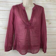 Club Monaco Womens Blouse XS Sequin Beaded V-Neck Top Shirt Pink Tunic $98