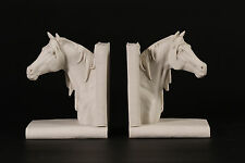 Marble Horse Head Book Ends Sculptures Horse Lovers ideal Gift, Ornament, Art.
