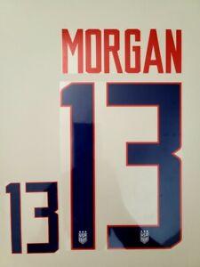 2019 WORLD CUP USA WOMENS USWNT #13 Morgan Home Away Soccer Name set