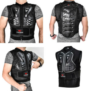 Motorcycle Body Armored Vest Chest Back Protector Motocross MTB Bike Gear Adult