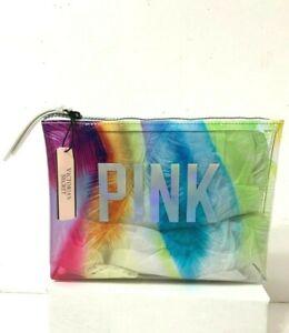 Victoria's Secret Pink Prism Palm Travel Pouch Makeup Bag
