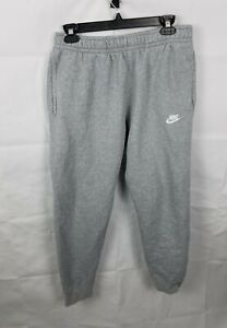 Nike NSW Sportswear Club Fleece Cuff Jogger Pants Grey BV2671-063 Mens Medium
