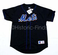 Authentic VTG Russell Athletics New York Mets Black ALT Jersey Plain Back L XL