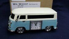 Blue VW CAMPER Widdop miniature clock BNWB